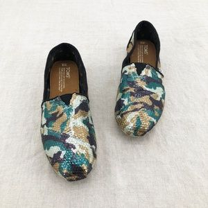 TOMS Maston Camouflage Sequin Slip-On Shoes